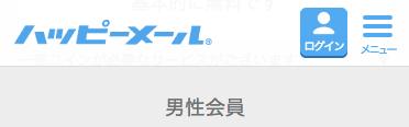 ハッピーメール料金_男性