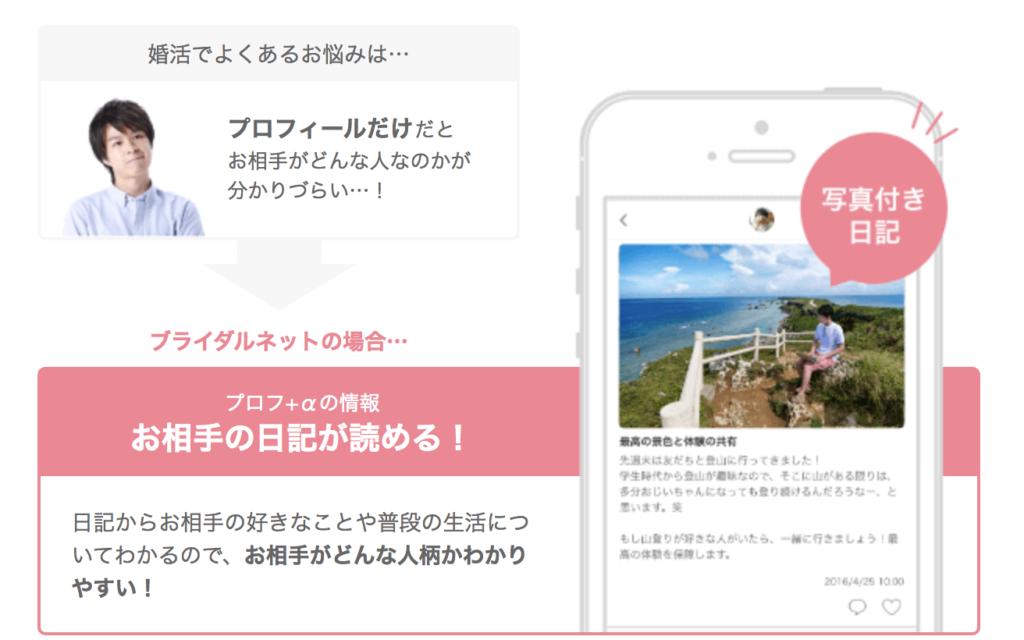 ブライダルネット_口コミ・評判_日記機能